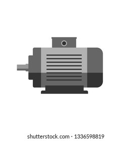 Electric motor vector icon