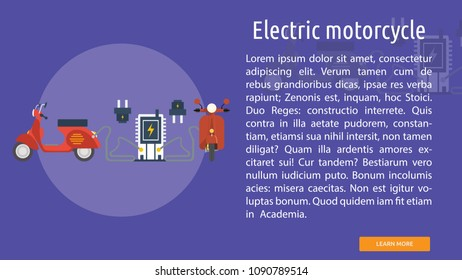 Electric motorcycle Conceptual Banner