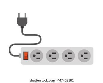electric multisockets isolated icon design, vector illustration  graphic