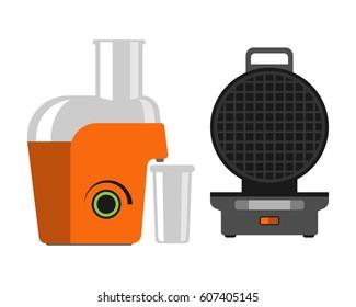 Electric orange juicer isolated on white background