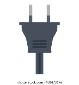 Electric outlet illustration on white background