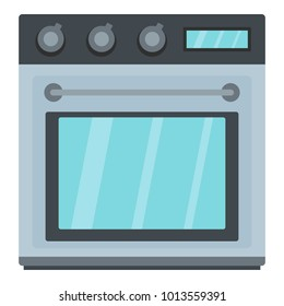 Electric oven icon. Cartoon illustration of electric oven vector icon for web