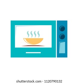 electric oven icon. cooking stove, vector microwave - kitchen appliance