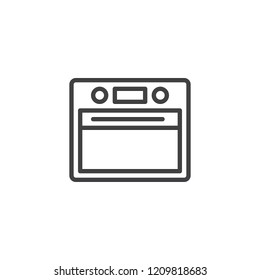 Electric oven outline icon. linear style sign for mobile concept and web design. Microwave oven simple line vector icon. Symbol, logo illustration. Pixel perfect vector graphics