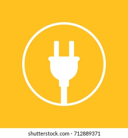 electric plug icon in circle