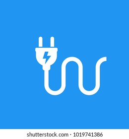 electric plug icon, vector