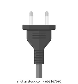 Electric plug, isolated on white background. Power Plug icon in flat style. Vector illustration EPS 10.