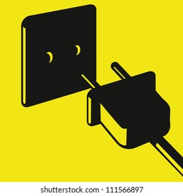 electric plug and outlet vector