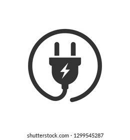 electric plug vector icon isolated on white background