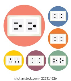 electric plug vector illustration