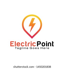 Electric Point logo design template