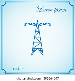electric post, energy saving concept, electricity icon