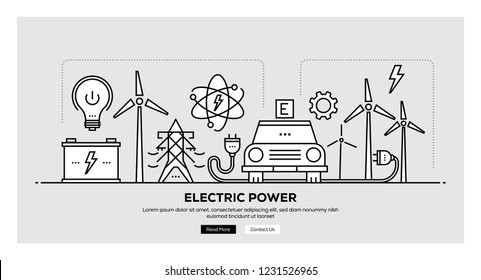 ELECTRIC POWER INFOGRAPHIC CONCEPT