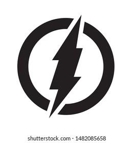 electric power Lightning  logo design element vector. Energy symbol