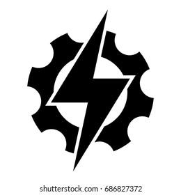 Electric power. Vector.