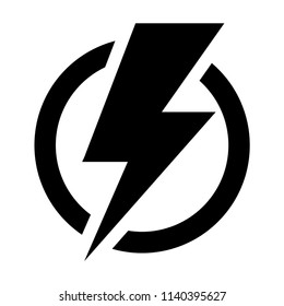 Electric power. Vector icon