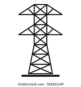 Electric pylon icon. Simple illustration of electric pylon vector icon logo isolated on white background
