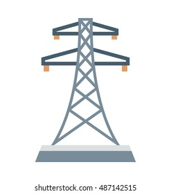 Electric Pylon Vector Icon