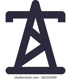 Electric Pylon Vector Icon