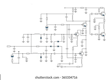 Electric scheme - fantasy technology vector background