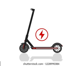 Electric Scooter Icon illustration Vector