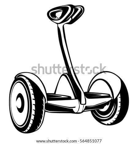 Electric Scooter Isolated On White Background Stock Vector Royalty