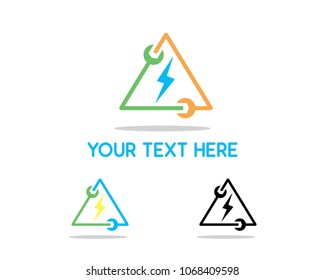 electric service design illustration, simple design logo, designed for brand identity