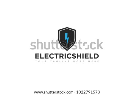 Electric Shield Logo Icon Vector Design Stock Vector Royalty Free