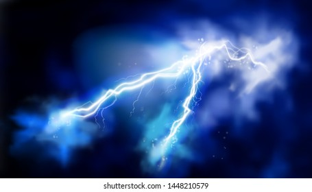 Electric storm. Light effects. Electrical energy. Vector illustration.