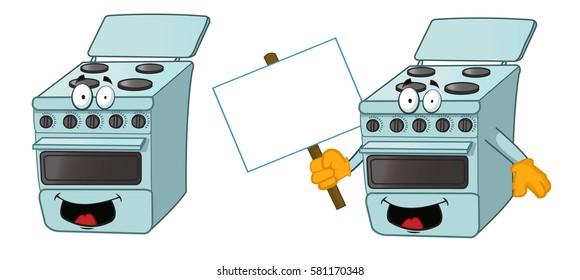 Cartoon Electric Cooker ~ Old stove stock vectors images vector art shutterstock