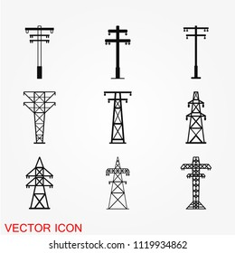Electric tower icon vector