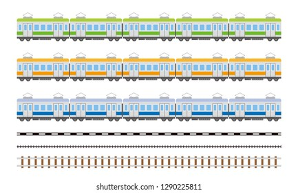 electric train car simple illustration