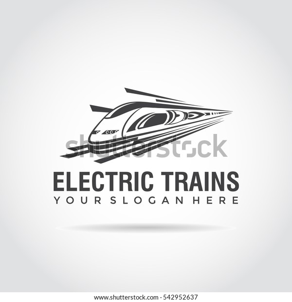 Electric Train Template Logo Design Fast Stock Vector Royalty Free 542952637