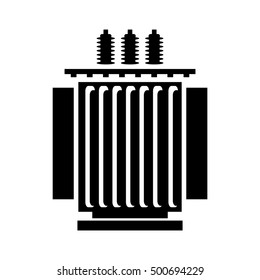 Electric transformer icon - vector illustration.