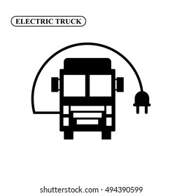 Electric truck vector icon