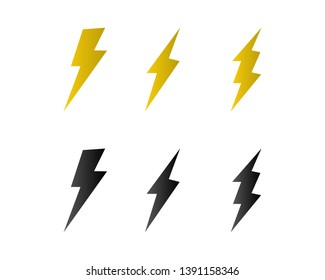 electric Vector lightning icon logo and symbols
