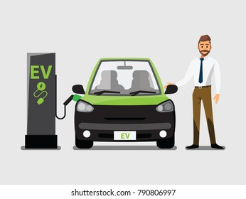 electric vehicle , ev station