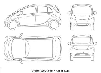 Vectores Imagenes Y Arte Vectorial De Stock Sobre Car Outline Top
