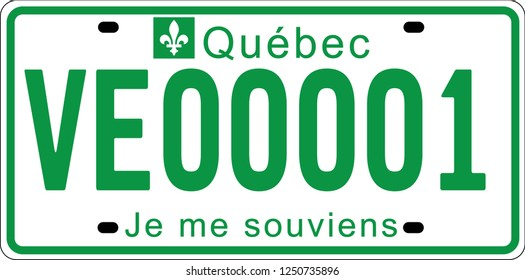 plaques d'immatriculation des véhicules électriques marquées au Québec, Canada