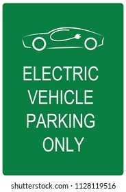 Electric vehicle parking only. Dutch road sign