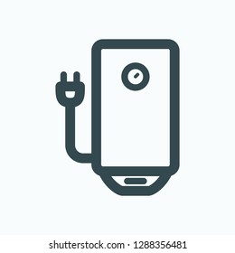 Electric water boiler icon, tank electric water heater vector icon