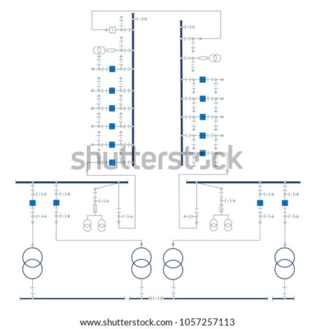 electric wiring diagram power transformers stock vector (royalty ac to ac transformer diagram electric wiring diagram for power transformers