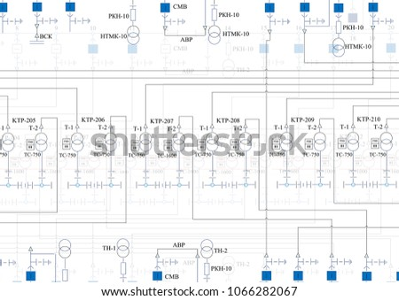 Stupendous Electric Wiring Diagram Power Transformers Stock Vektorgrafik Wiring Digital Resources Cettecompassionincorg