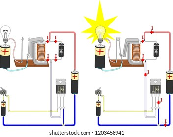 Electrical circuit of electromagnetic relay control