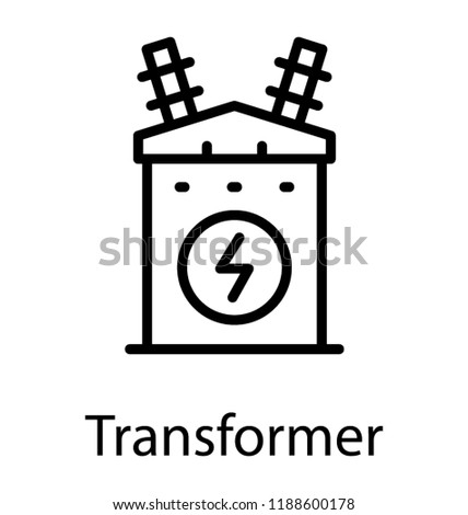 Electrical Device Having Electric Symbol Depicting Stock Vector