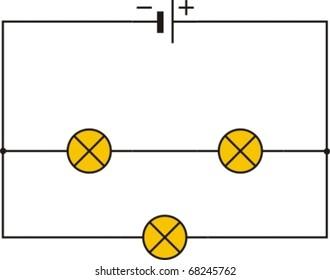 Electric Circuit Diagram Images Stock Photos Vectors Shutterstock Circuitdiagram Automotivecircuit Irremotecontroldimmercircuit Electrical Series And Parallel Connection