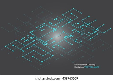 electrical drawing vector