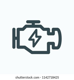 Electrical engine icon. Electric motor for car vector icon