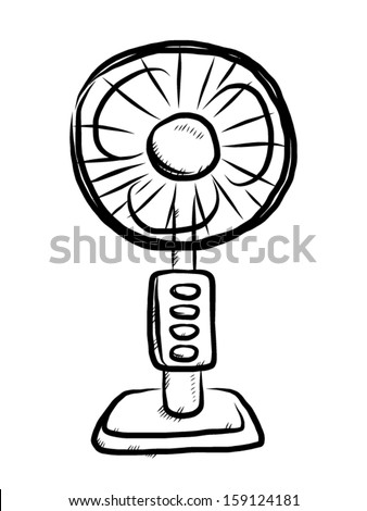 Electrical Fan Front View Cartoon Vector Stock Vector Royalty Free