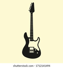Electrical Guitar Silhouette Vector Design
